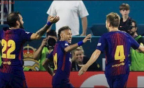 Real Madrid 2 x 3 Barcelona - Melhores Momentos - NEYMAR ACABOU COM O JOGO ! Champions Cup 2017