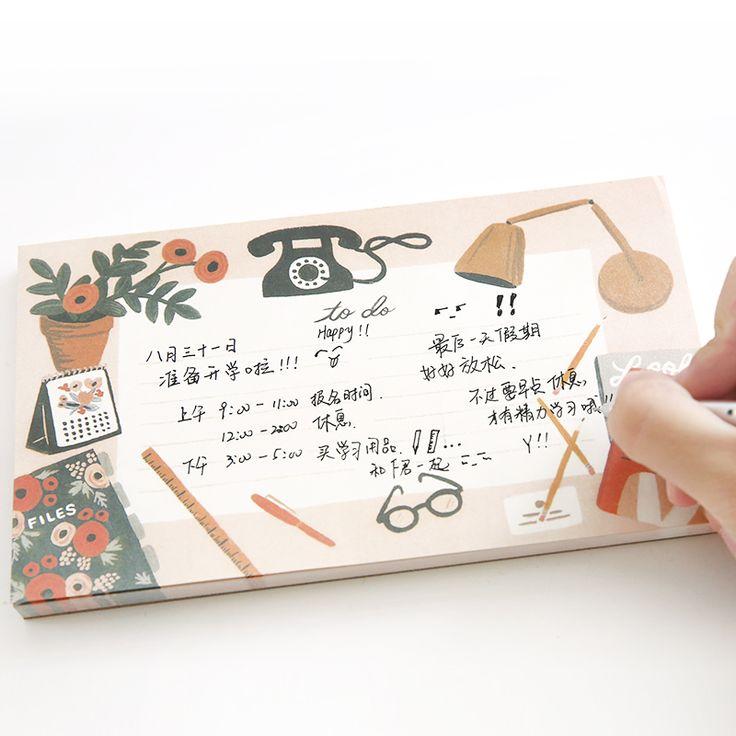 Korea Kawaii Lucu Bunga Floral Meja Untuk Melakukan Cek Daftar Notebook Perencana Mingguan Memo Pad Jadwal Perencana Portabel Organizer