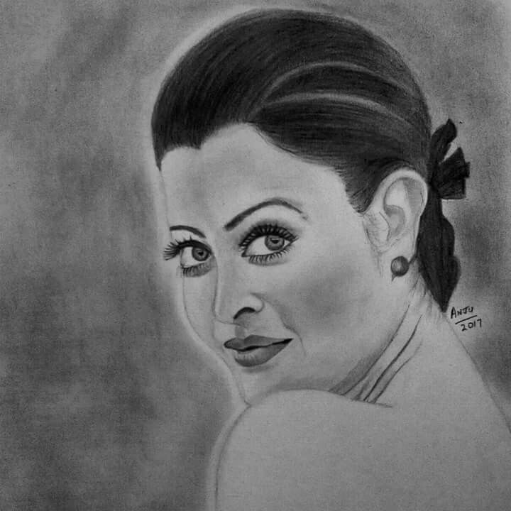 Truly An Epic Mindblowing Portrait Drawing By Artist #PRIYADARSHINIANJANA (Anju) https://www.facebook.com/anju.priya.501 Which Is An Absolute Delight To Cherish Because Of It's Artistic Perfection Just Like The Beauty Queen Herself On The Canvas Of AnjuArts..Indeed One Of The Finest Artworks Of AISHWARYA RAI...(Now The Bachchan Bahu) Who Has Always Had The World At Her Feet!!