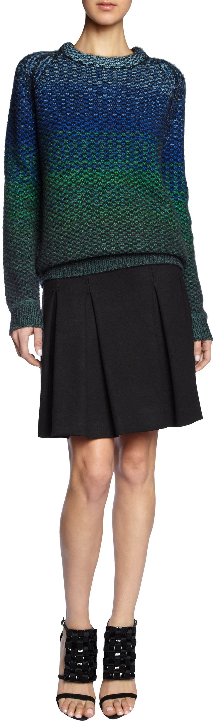 Proenza Schouler Ombre Intarsia Knit Sweater at Barneys.com