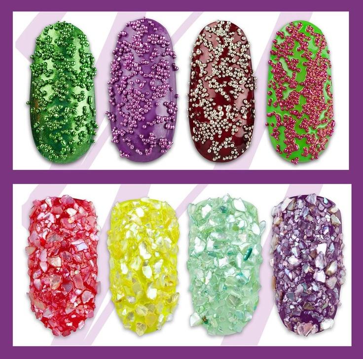 caviar manicure, shattered glass manicure Find us on: www.facebook.com/neonailpl