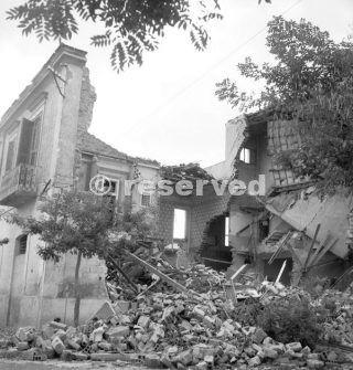 Foggia  Italy September 1943. Bomb damaged_foggia bombardamento