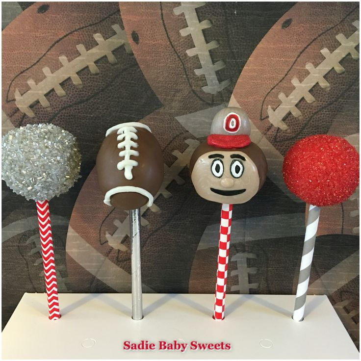 Brutus the Buckeye and Ohio State Football Cake Pops!