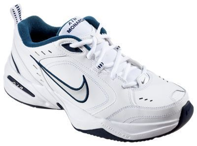Nike Air Monarch IV Training Shoes for Men - White/Blue - 11.5 M