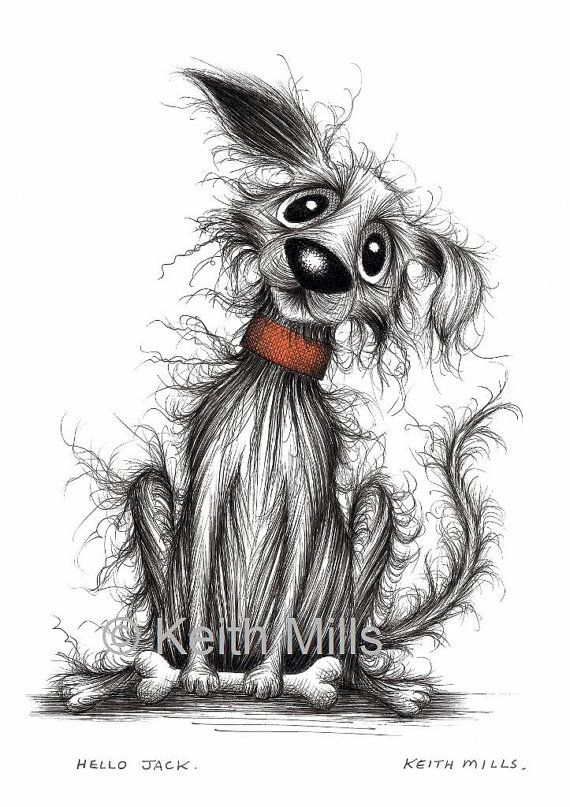Hello Jack Print download Happy little pet dog pup by