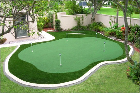 Back yard putting and chipping green....