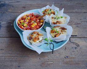 Vanløse blues.....: Små fritatta med spinat og søde kartofler & majs-tomat salsa