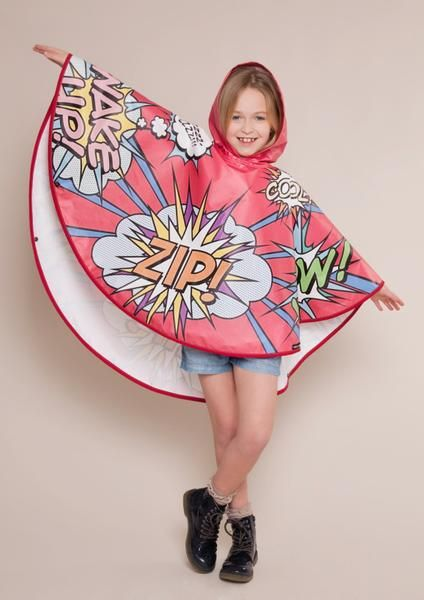 Keep your little ones dry with this fun waterproof designer poncho by FieldCandy. Comes with a matching carry case. Made in England from durable coated PU polye