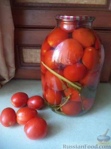 Фото приготовления рецепта: Простой способ закатки помидоров-1 - шаг №13