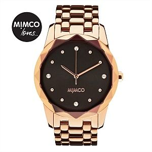 Large glimmer watch - rose gold