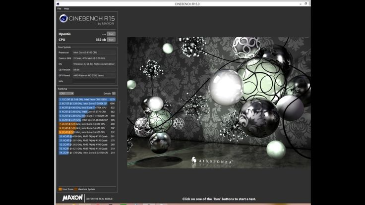 Intel core i3 6100 skylake Cinebench R15 - Prime95 temps