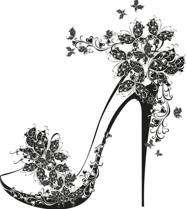 zapato. silueta artística