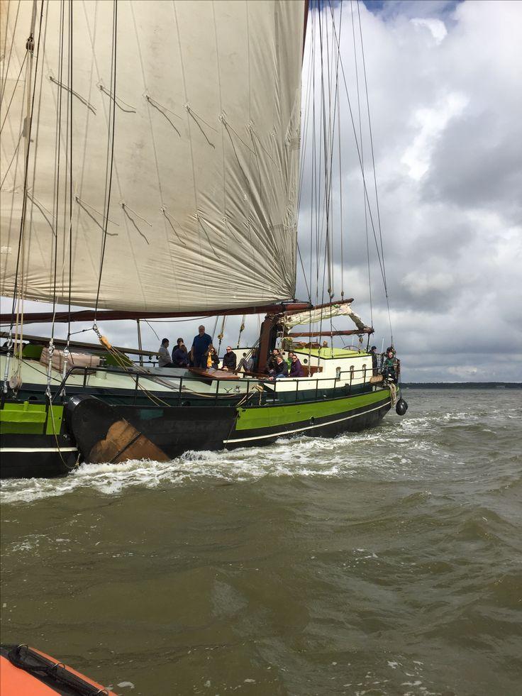 Sailing to Vlieland.