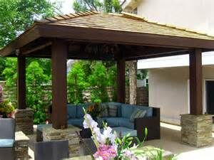 Best 20 covered patio design ideas on pinterest for Detached covered patio plans