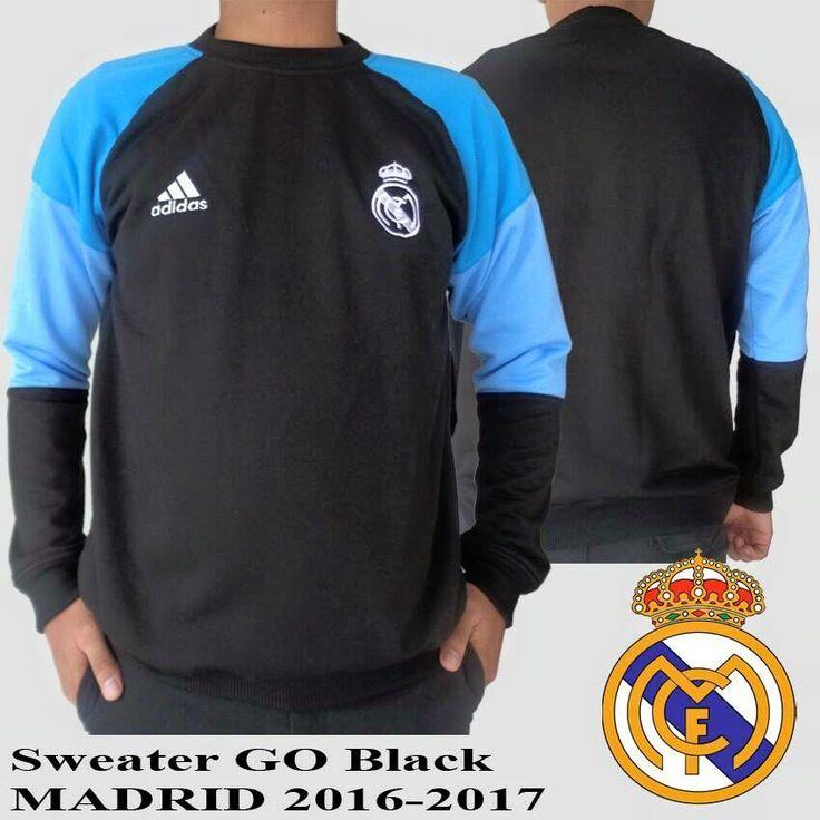 Rp. 170 .000          Sweater Real Madrid Grade Ori     Jual sweaterbola dengan desain klub kesayangan anda yaitu Real Madrid . S...