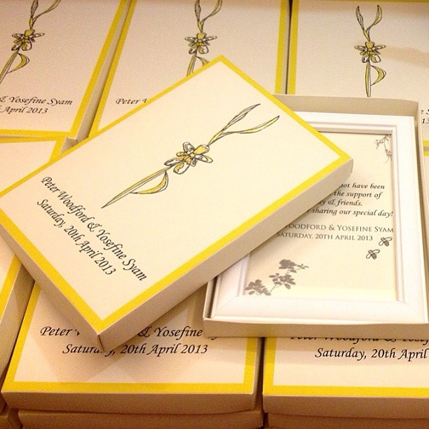 Personalised box and photo frame special designed for Peter & Yosephine