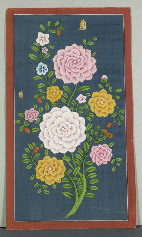Mughal Flower Painting, India, 19th Century.