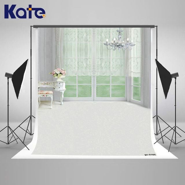 Kate Indoor Wedding Photo White Curtains and Chandelier European Interior Decoration Cortinas Photocall Wedding Fundo Fotografia
