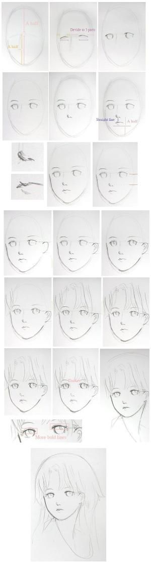 #Drawing   #Anime   #Manga   #Tutorial   #Face by Williams1967