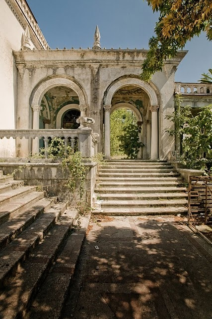 the beautiful decay of an old mansion.