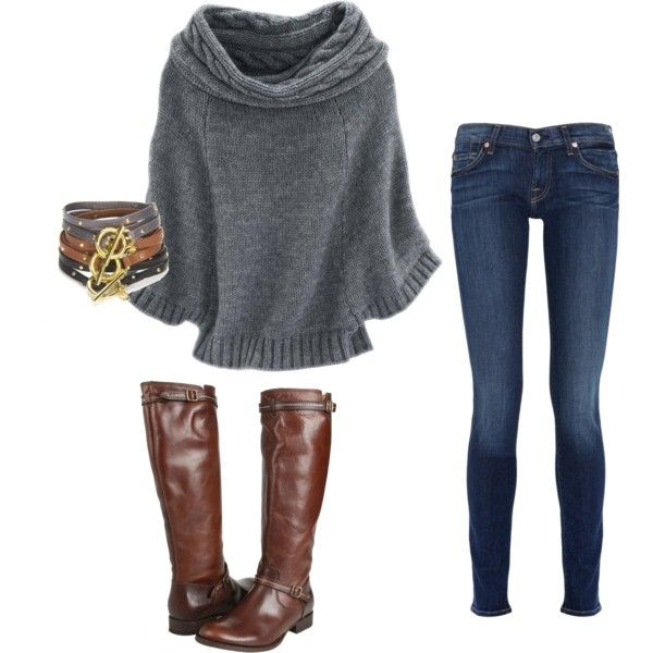 : Fashion, Skinny Jeans, Style, Fall Outfits, Winter Outfit, Big Sweater, Fall Winter