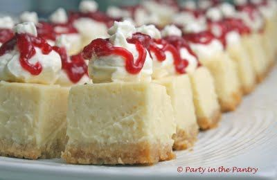 Key Lime Cheesecake Bites with Raspberry Drizzle
