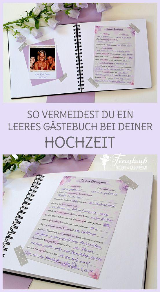 Gästebuch & Gästekarten mit vorgedruckten Fragen für deine Hochzeit