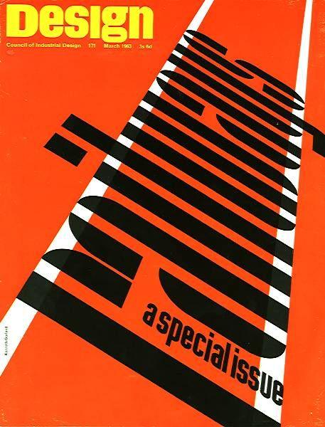 Ken Garland  Cover for Design 171, March 1963