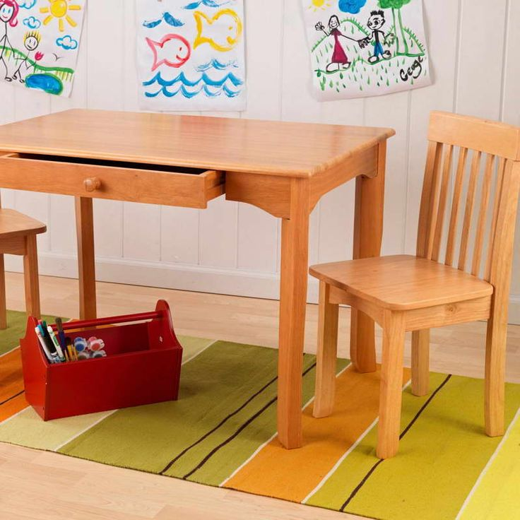 Kids Table And Chairs Work With White Wood Wall ~ Http://monpts.