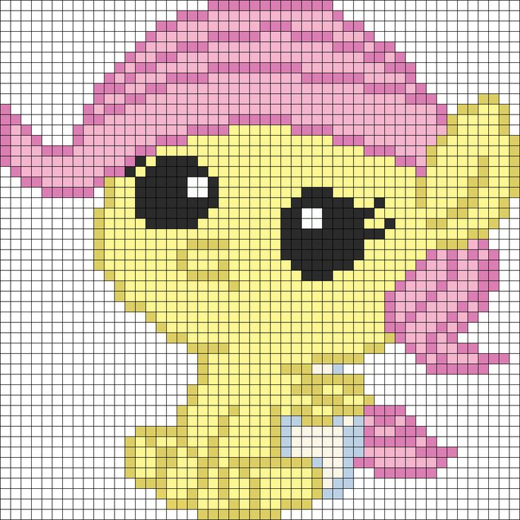 Fluttershy filly template