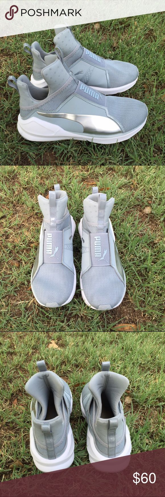 "Kyle Jenner x Puma ""Fierce"" Kylie Jenner x Puma ""fierce"" Silver/White Women's size 6 Like new worn once No box Puma Shoes Athletic Shoes"