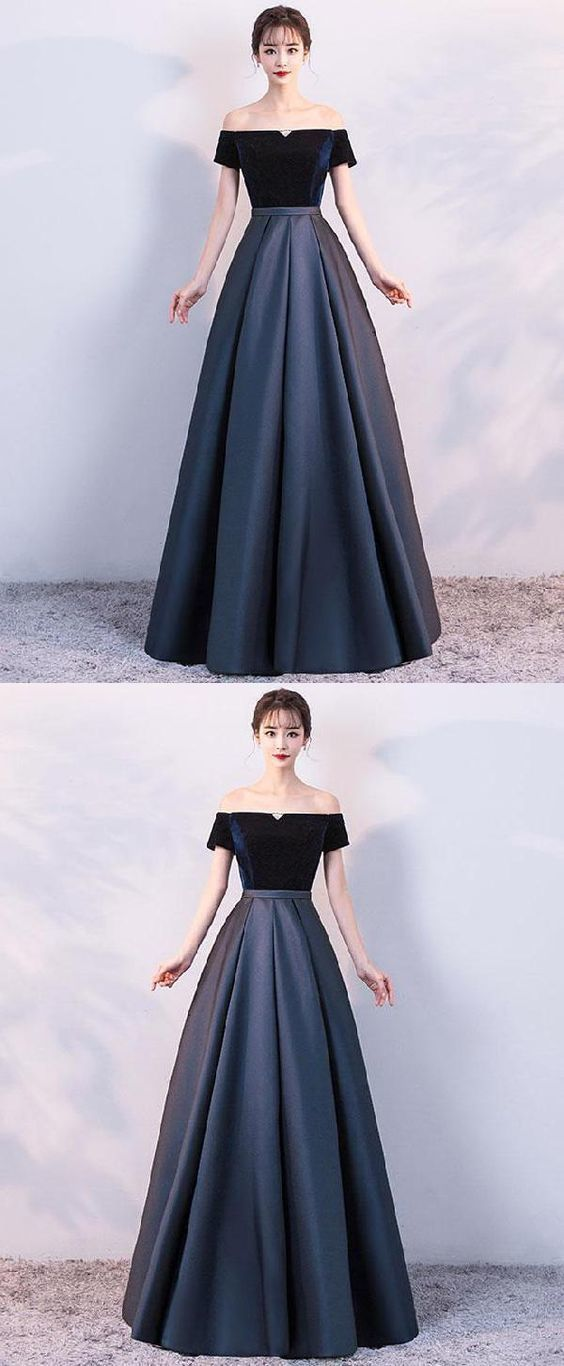 263caf4089fb Simple Prom Dresses, Simple Satin Long Prom Dress, Formal Dress by  MeetBeauty, $140.12