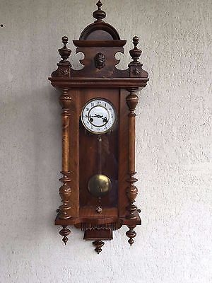 CLEARANCE-ANTIQUE-JUNGHANS-GERMAN-Wall-Clock-for-sale-great-condition