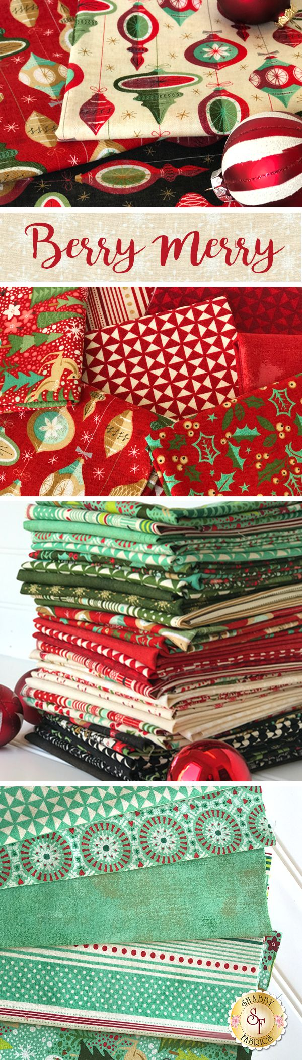 Berry Merry is a festive Holiday collection by BasicGrey for Moda Fabrics available at Shabby Fabrics!