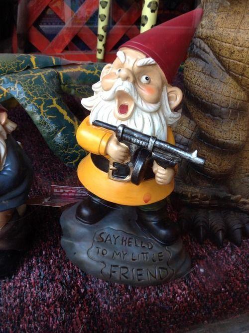 little friend' is creepy | Garden Decor | Funny garden gnomes