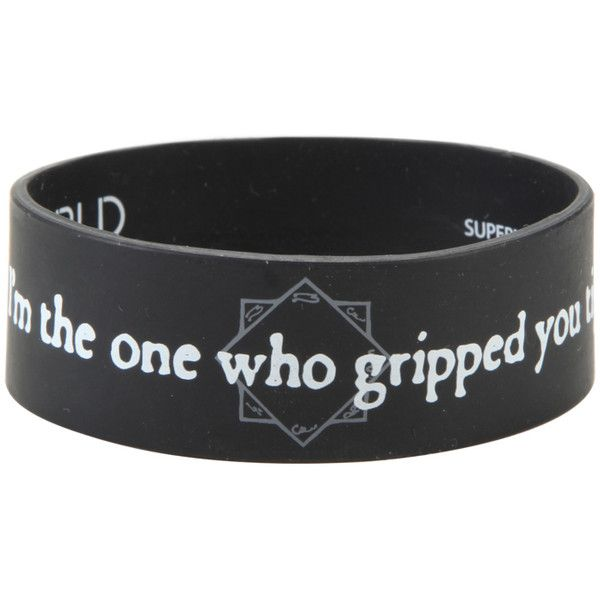 Hot Topic Supernatural Castiel Perdition Rubber Bracelet ($5.60) ❤ liked on Polyvore featuring jewelry, bracelets, multi, rubber jewelry and rubber bangles