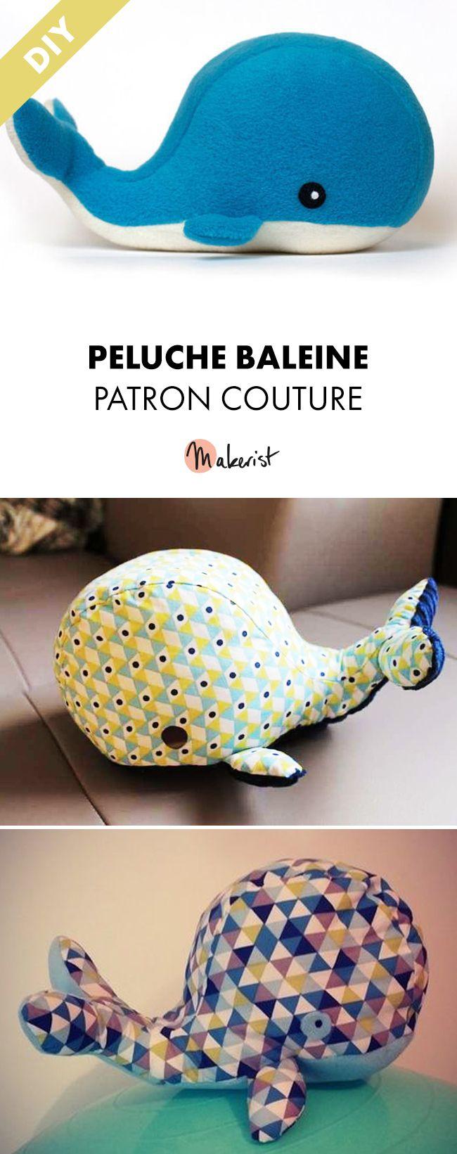 Patron Couture Peluche Baleine - Coudre une baleine