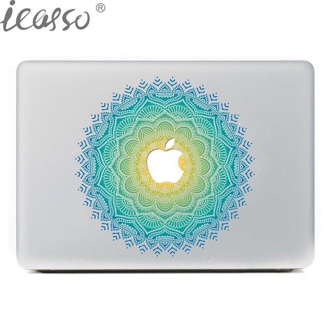 """ICasso Ноутбук Наклейки Мандала Стежка Этикеты Винила ноутбука Наклейки для Macbook Pro Air 13 """"мультфильм ноутбук Кожи shell для Mac book купить на AliExpress"""