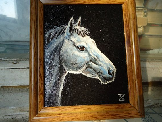 Buy Leather picture Portrait horse