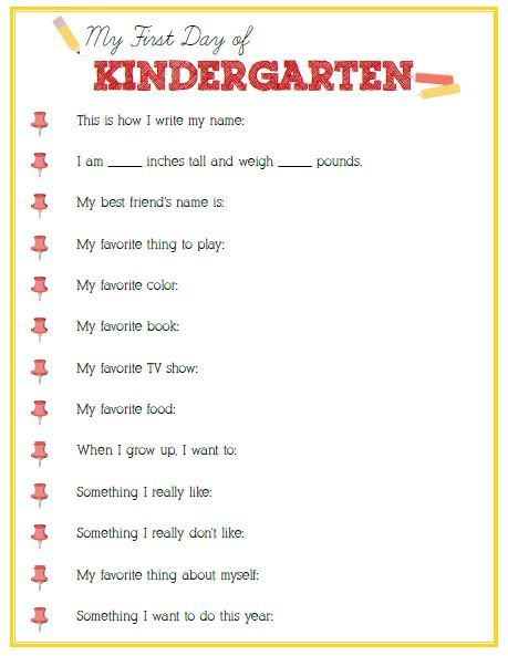 First Day of Kindergarten Interview - Click image or link below to download