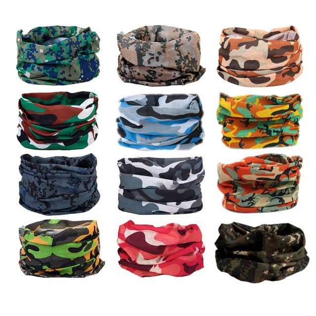 Men/'s Outdoor Sports Magic Scarf Cycling Headwear Camping Wrap Headband Mask