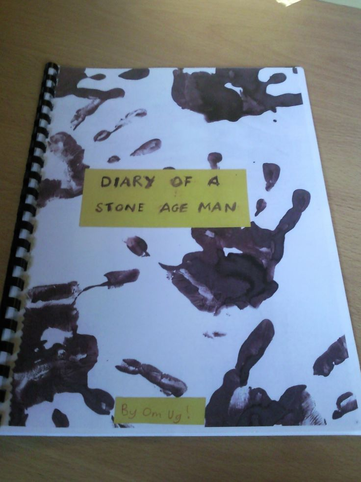 Pupils note their learning on the Stone Age topic by making a diary of a man from that period