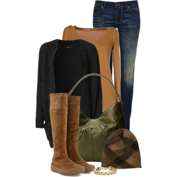 """""""Black, Olive and Caramel"""" by orysa on Polyvore"""