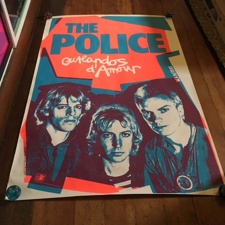 The Police Outlandos D'Armour 1978 A&M Records Rare Original Vintage Silkscreened Music Poster by RockPostersTreasures on Etsy