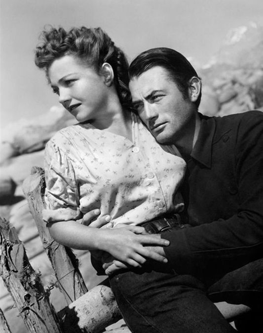 "Gregory Peck and Anne Baxter in ""Yellow Sky"" William A. Wellman (1948)"
