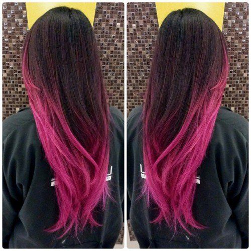 19 best morado images on pinterest colourful hair hair color and looking for hair color ideas dip dye hair is fun and easy to do yourself at home dip dye works for light and dark as well as long and medium hair solutioingenieria Choice Image