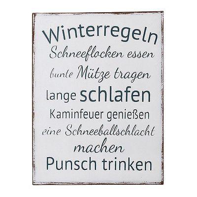 Schild WINTERREGELN shabby chic Holzschild Weihnachten Türschild Anhänger in Möbel & Wohnen, Feste & Besondere Anlässe, Jahreszeitliche Dekoration | eBay!