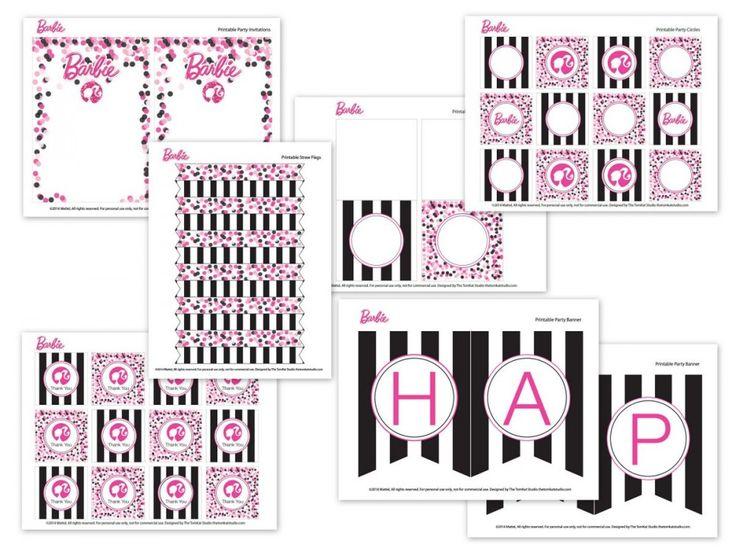 Barbie™ Glam Birthday Party & Free Printable Designs! | The TomKat Studio