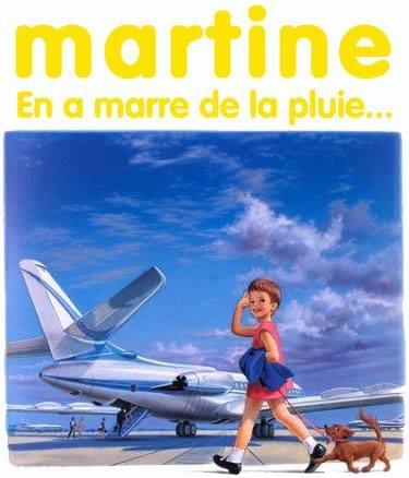 Martine en a marre de la pluie....Martine habite comme nous à Brest