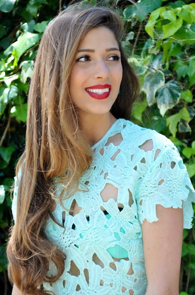 Cosa mi metto??? - personal style blog by Fabrizia Spinelli: All Mint Everything: crop top e gonna in pizzo color menta  VIOLA   # All Clothing#SHEER & LACE#All Tops#Cropped Tops  #jessicabuurman @Jessica Buurman @bitty m.